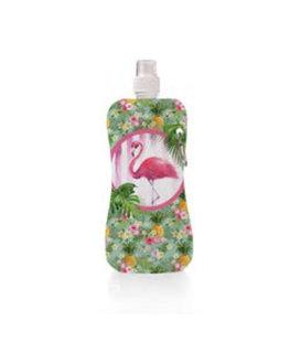 Aqua-licious duurzaam waterflesje Happy Flamingo