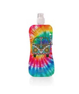 Aqua-licious duurzaam waterflesje Happy Hippie