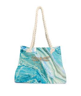 Aqua-licious Beachbag Marble Dragonfly