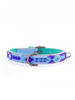 Dog With A Mission Halsband Blue 2 cm S
