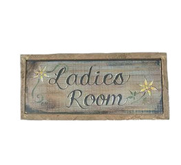 La Finesse Houten Bord Ladies Room