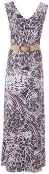 K Design Maxi jurk v-hals met dierenprint