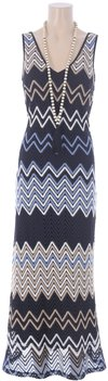 K Design Maxi jurk met ketting en riem