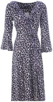 K Design Midi jurk cache coeur met dierenprint