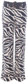 K Design Broek met zebra print en riem