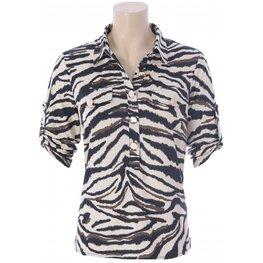 K Design Polo top met zebra print