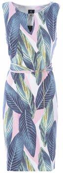 K Design Jurkje met bladeren print en riem
