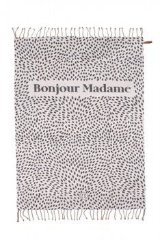 Zusss zomers plaid bonjour madame 250x215cm