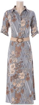 K Design Maxi jurk bloemenprint met riem