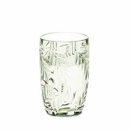 Waterglas Palm grijsgroen