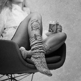 Woman sugar coral grey 36-41 knee