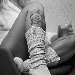 Woman powder pink off white 36-41 knee