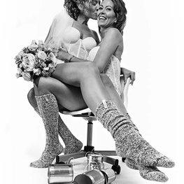 W&W Mrs dark grey&Mrs light grey grey 36-41 knee