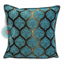 Esperanza Deseo kussenhoes Honingraat turquoise ± 45x45cm