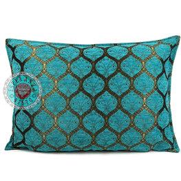 Esperanza Deseo kussenhoes Honingraat turquoise ± 50x70cm