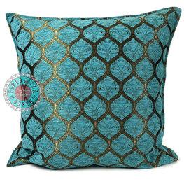 Esperanza Deseo kussenhoes Honingraat turquoise kussen ± 70x70cm