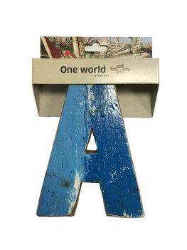 One World Interiors Houten Letter A