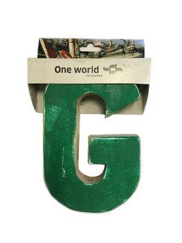 One World Interiors Houten Letter G