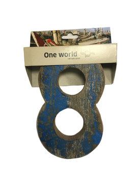One World Interiors Houten Cijfer 8