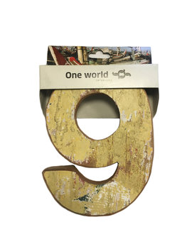 One World Interiors Houten Cijfer 9