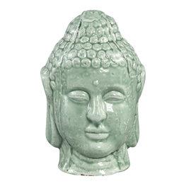 PTMD Budhi green ceramic buddha head statue S