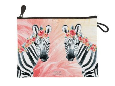 Aqua-licious Clutch Zebra Boho
