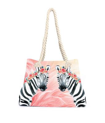 Aqua-licious Beachbag Zebra Boho