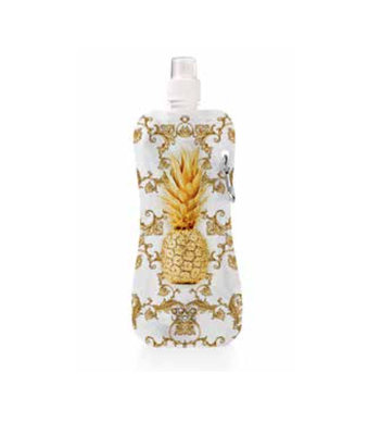 Aqua-licious duurzaam waterflesje Gold Pineapple