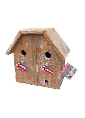 Dutch Mood birdhouse old dutch StB 2 under 1 roof