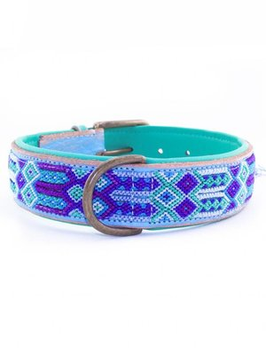 Dog With A Mission Halsband Blue 4 cm L