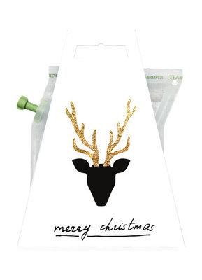 Liv n Taste Merry Christmas Hert Teabrewer Kaart