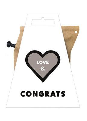 Liv n Taste Love and Congrats Coffeebrewer Kaart