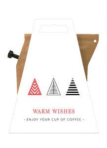 Liv n Taste Warm Wishes Rood Coffeebrewer Kaart