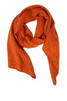 Pieces Lange Sjaal Zacht Gebreid Oranje Rood