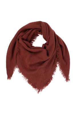 Zusss zachte vierkante sjaal gewafeld roest