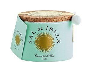 Sal de Ibiza Fleur de Sel Keramiek groot met lepeltje 150 gram