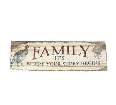 La Finesse Houten Bord Family Story