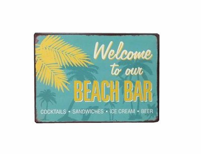 La Finesse Tekst Bord Beach Bar