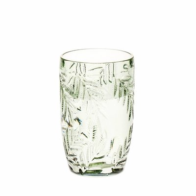 Waterglas Palm grijsgroen