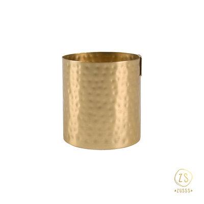 Zusss potje metaal goud 8cm