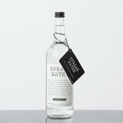 Flessenwerk, Spraakwater