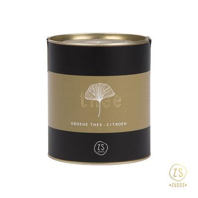 Zusss thee in luxe koker groene thee citroen 20 theezakjes
