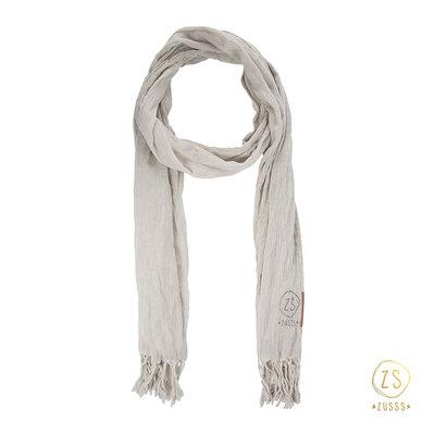 Zusss nonchalante sjaal met franje krijt