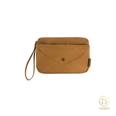 Zusss handige portemonnee-clutch camel