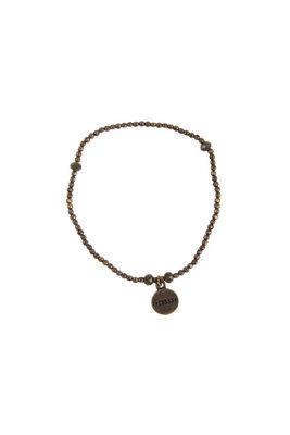 Zusss fijn kralenarmbandje brons