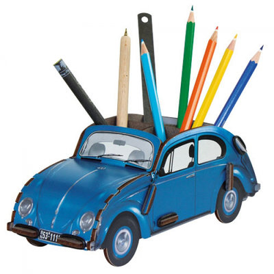 Werkhaus Pen Box VW Beetle Limosine Blue