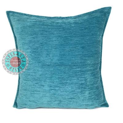 Esperanza Deseo Turquoise kussen ± 70x70cm