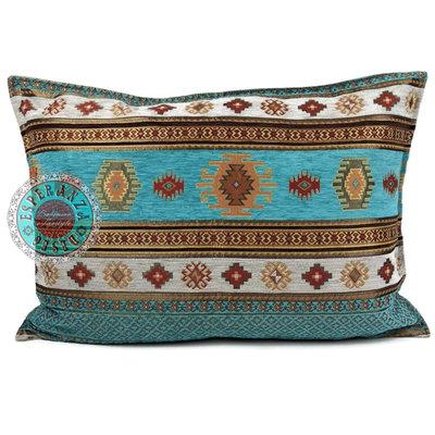 Esperanza Deseo Aztec turquoise kussen ± 50x70cm