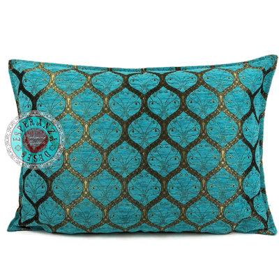 Esperanza Deseo Honingraat turquoise kussen ± 50x70cm