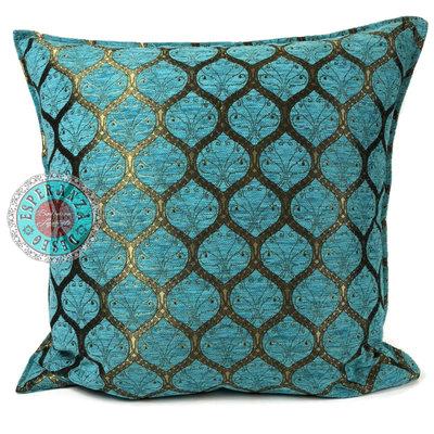 Esperanza Deseo Honingraat turquoise kussen ± 70x70cm